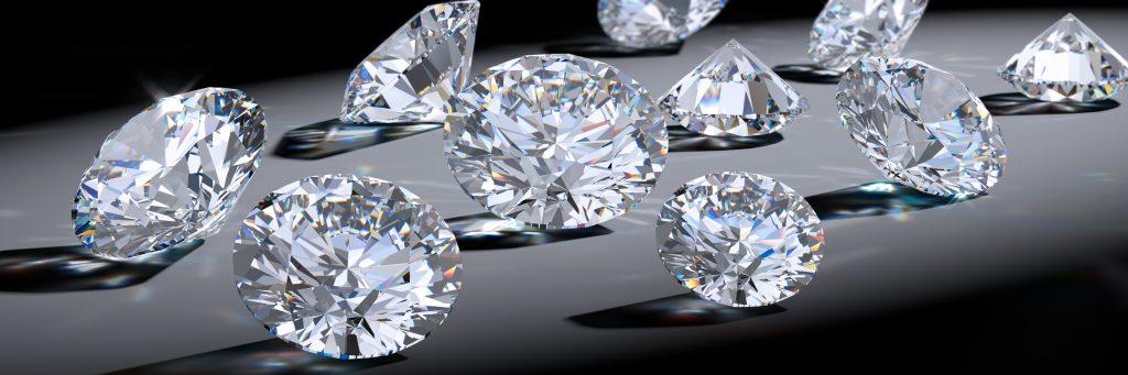 Grup de diamants de talla brillant